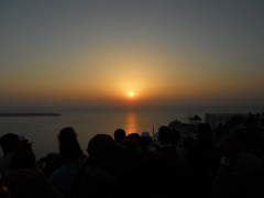Sonnenuntergang in der Stadt Oia