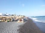 Strand Kamari - Santorini foto 1